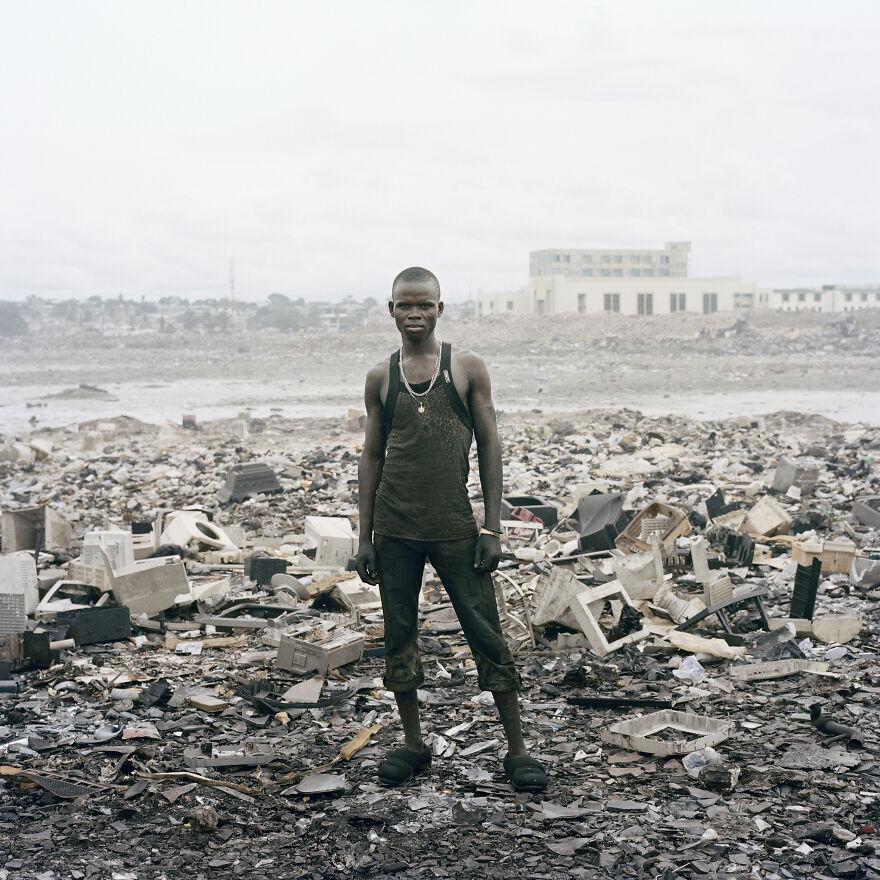 "Agbogbloshie Market, Zakaria Salifu, Accra, Ghana, 2010, ""Permanent Error"""