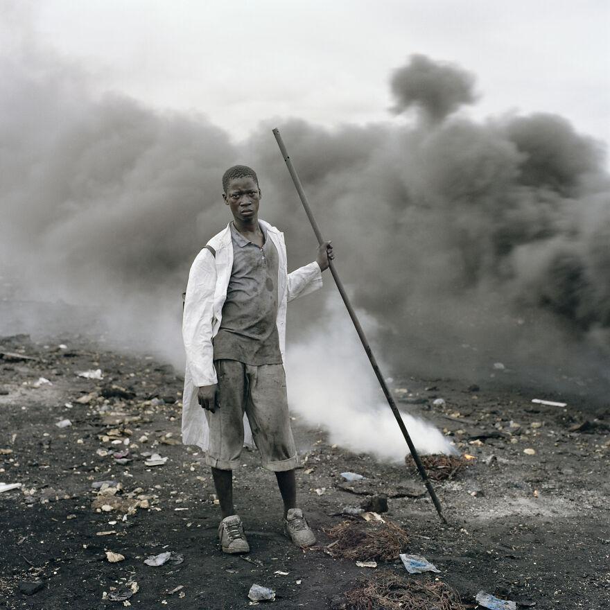"Abdulai Yahaya, Agbogbloshie Market, Accra, Ghana, 2010, ""Permanent Error"""