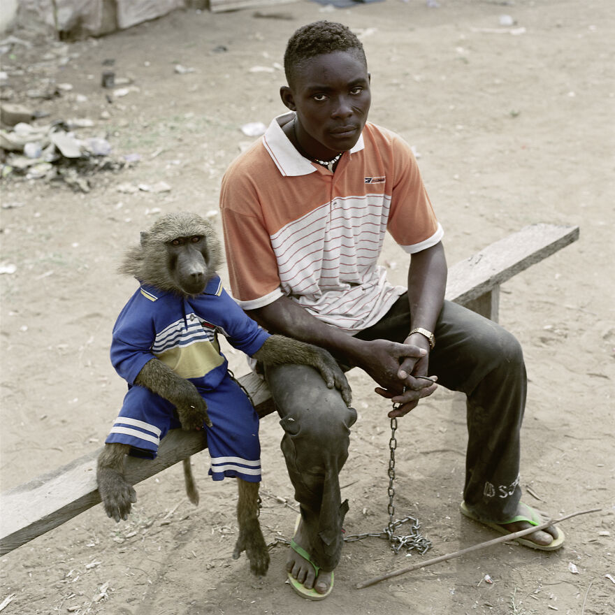 "Dayaba Usman With The Monkey Clear, Nigeria, 2005, ""The Hyena And Other Men"""