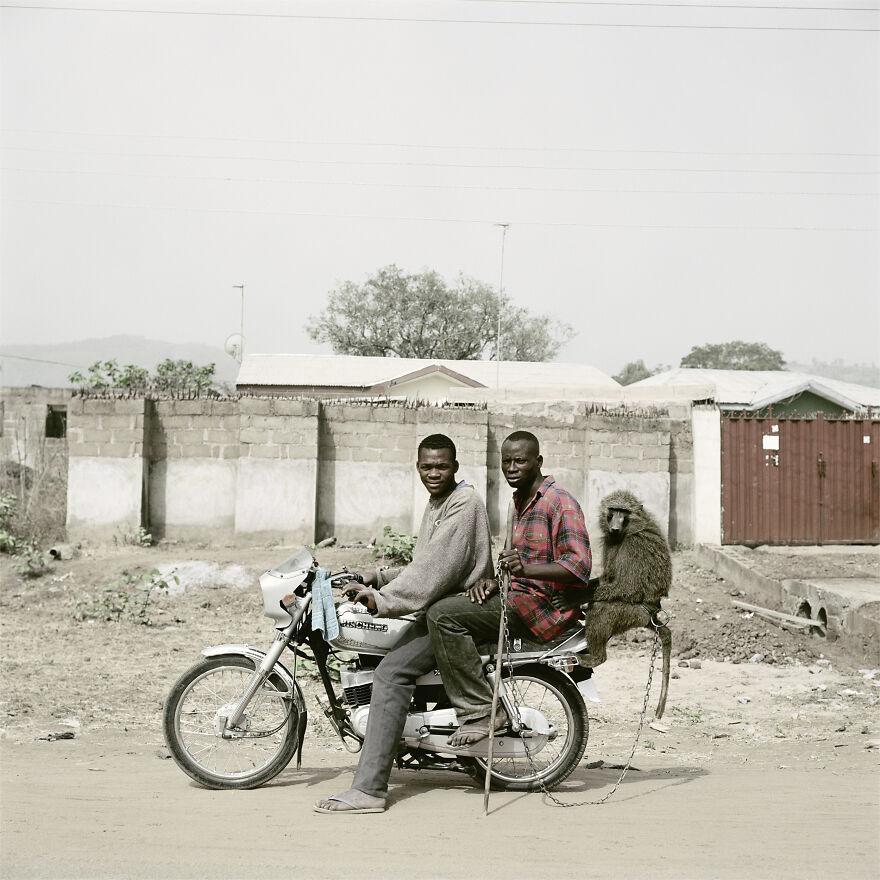 "Nura Garuba And Friend With Their Monkey, Abuja, Nigeria, 2005, ""The Hyena And Other Men"""