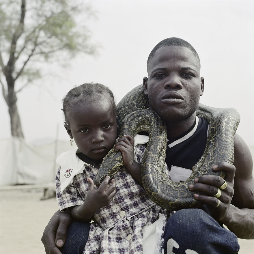 "Mummy Ahmadu And A Snake Charmer With A Rock Python, Abuja, Nigeria, 2005, ""The Hyena And Other Men"""
