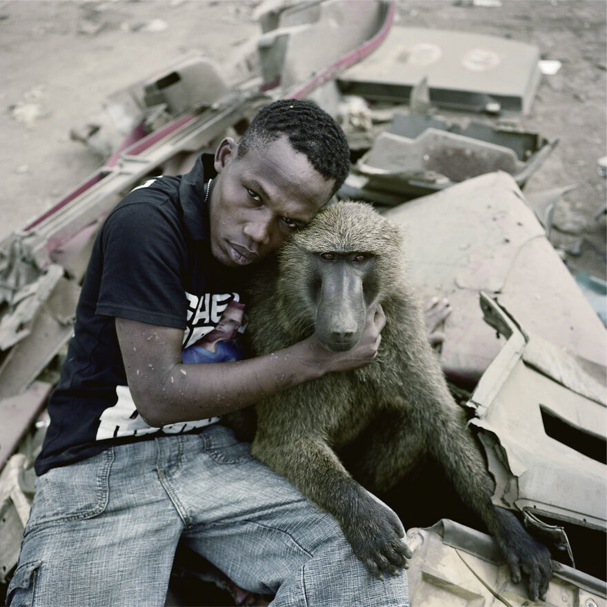 "Garuba Yawu With Mora, Ogere-Remo, Nigeria, 2007, ""The Hyena And Other Men"""