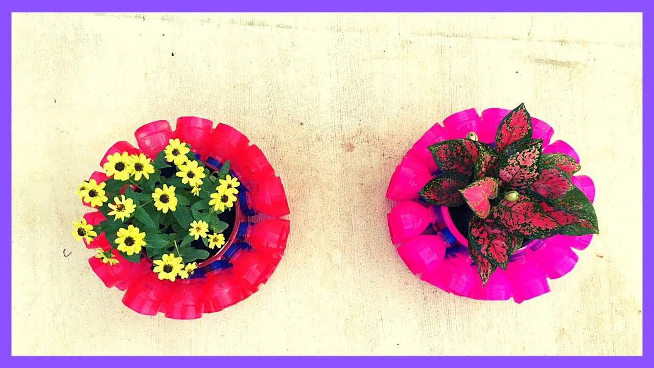 How To Recycle – Plastic Bottles – Planter Pots – How To Make It | Craft Yours