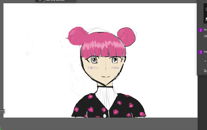 My Other Attempt At Drawing Manga On My New Drawing Tablet.