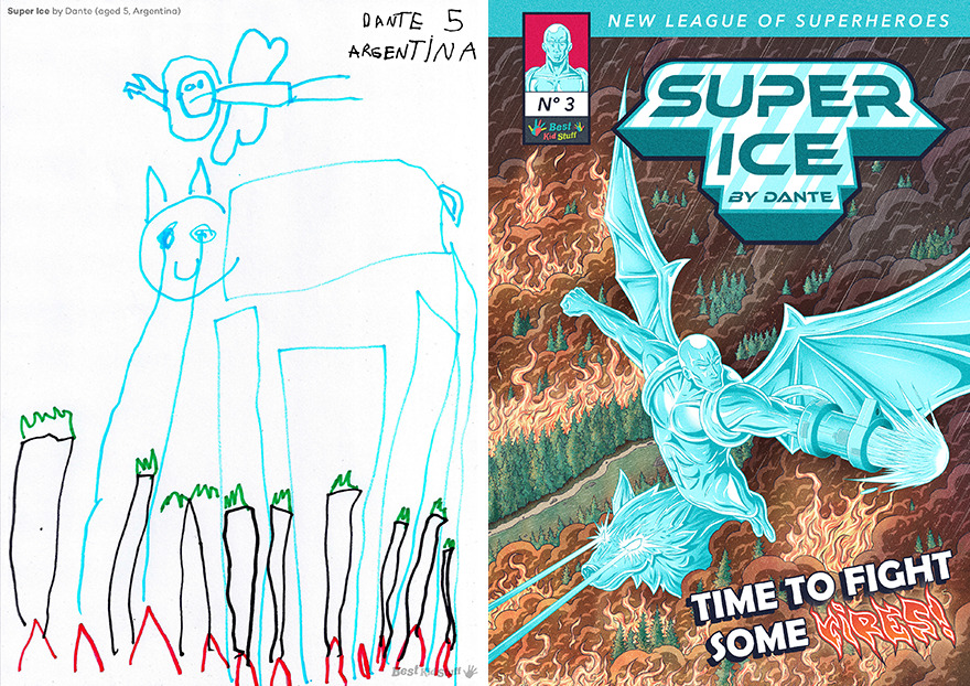 """Super Ice"" (Super Hielo) By Dante (Aged 5, Argentina)"