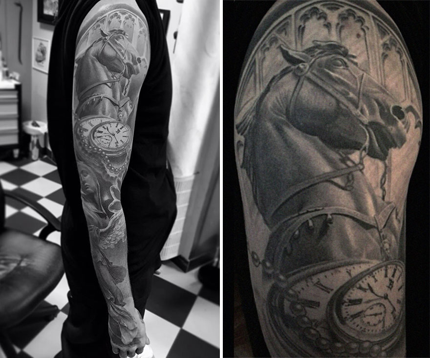 The Tattoo Artist Makes Hyper-Realistic Tattoos That Look More Like They Were Printed On The Skin