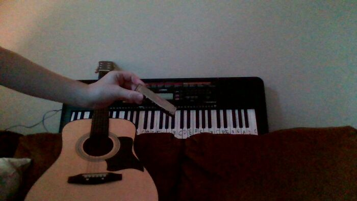 I Have 3 Instruments; A Keyboard, A Guitar, And A Harmonica,