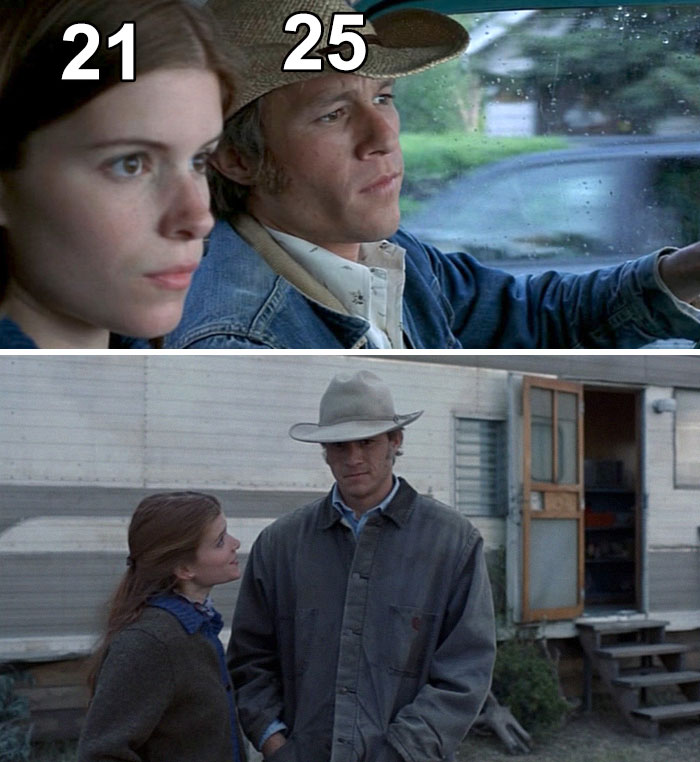 In Brokeback Mountain, The Age Difference Between Heath Ledger And Kate Mara Playing Father And Daughter Was Just Four Years