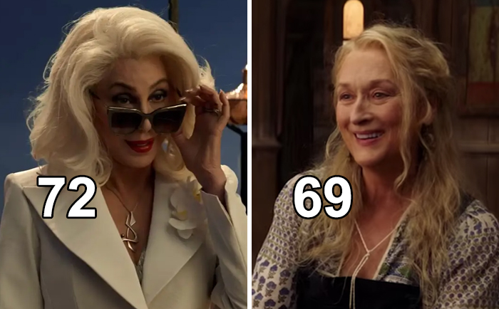 In Mamma Mia! Here We Go Again, Cher Played Meryl Streep's Mom Even Though She Was Only Three Years Older Than Her Co-Star