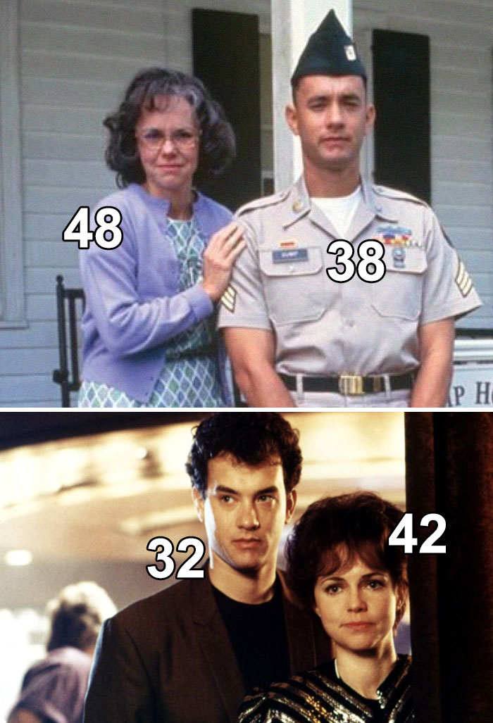 Sally Field Was Tom Hanks's Mom In Forrest Gump. However, She's Just 10 Years Older Than Him, And Even Played His Love Interest In Punchline A Few Years Earlier