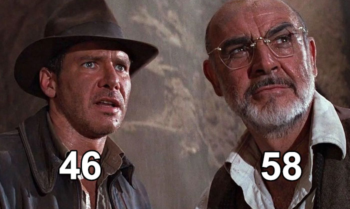 In Indiana Jones And The Last Crusade, The Age Difference Between Sean Connery And Harrison Ford Is 12 Years
