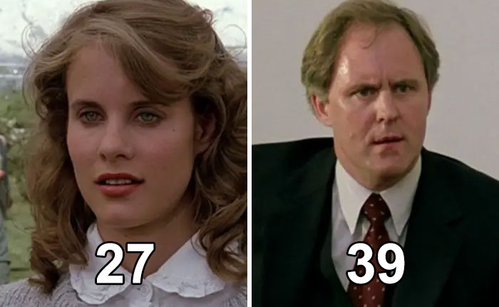 "In ""Footloose,"" The Stodgy Town Reverend, Played By John Lithgow, Is Only 12 Years Older Than His Fictional Daughter, Played By Lori Singer"