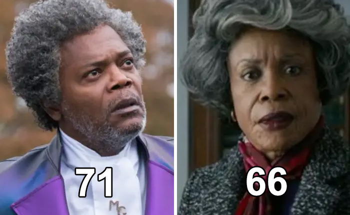 "In The 2019 Film ""Glass,"" Charlayne Woodard Plays The Mother Of Samuel L. Jackson's Character, Elijah (Aka Mr. Glass). The Only Problem Is That, At 66, She's Five Years Younger Than 71-Year-Old Jackson"