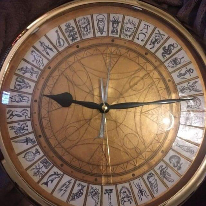 I Drew/Painted An Alethiometer Clock For My Sister's Birthday A Few Years Ago, And Made One For Myself (Pictured).