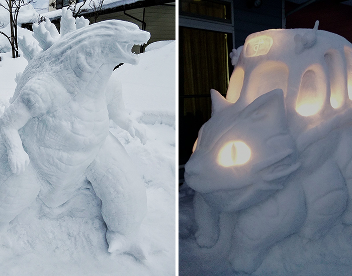 This Japanese Artist Makes Sculptures Out Of Snow, And Here Are 30 Of The Coolest Ones