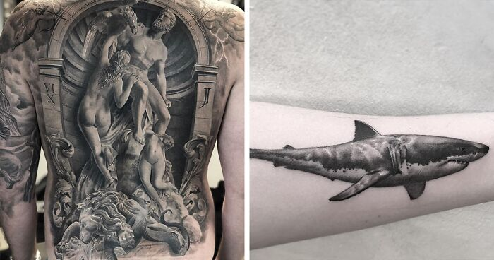 96 Impressive Tattoos By A Swedish Artist Who Specializes In Black And Gray Realism