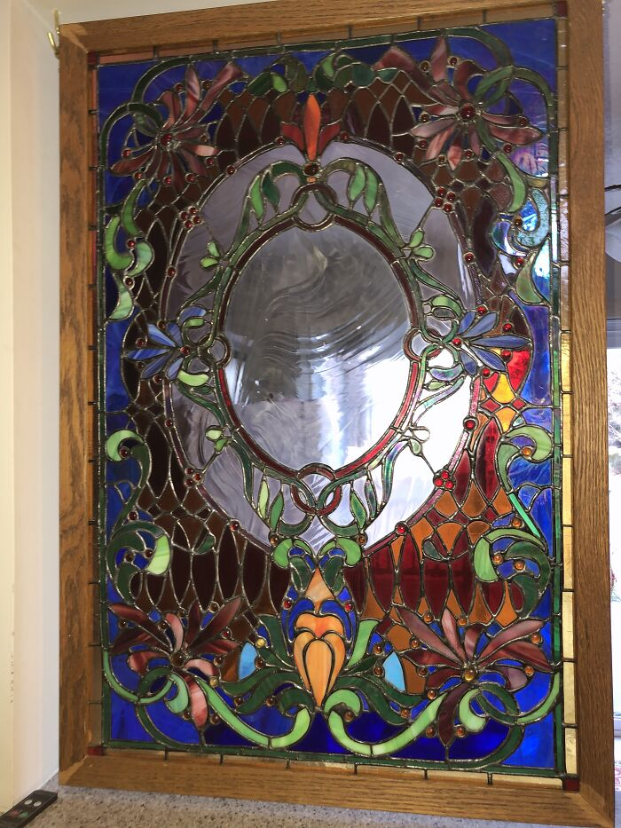 Edwardian Stained Glass- 872 Pieces, Copper Foil. Ook 4 Months