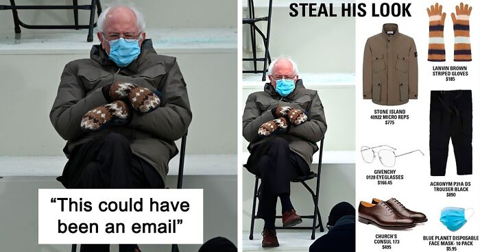 40 Of The Funniest Memes People Created After Bernie Sanders Was Captured Sitting Alone During Inauguration