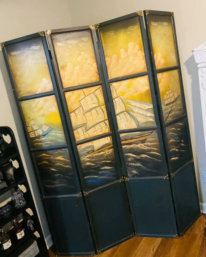 I Just Bought My First Home And Spent Many Hours Perusing Fb Marketplace For Unique Things To Decorate And I Came Across This Gorgeous Room Divider