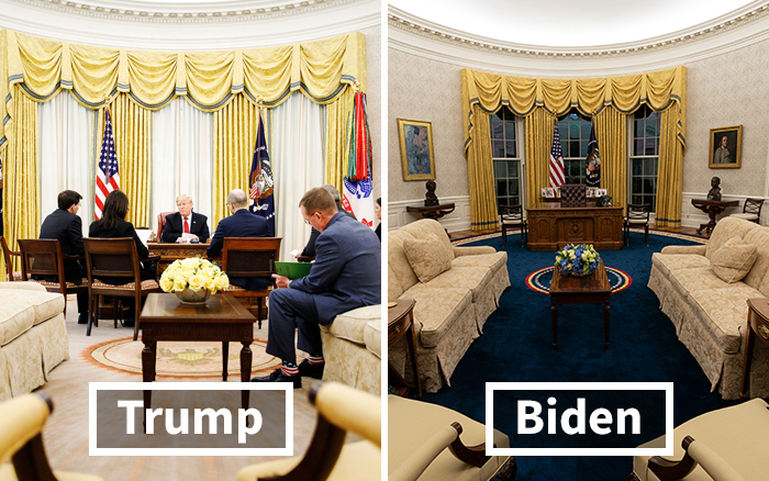 18 Pictures That Show The Differences Between Biden's And Trump's Oval Office