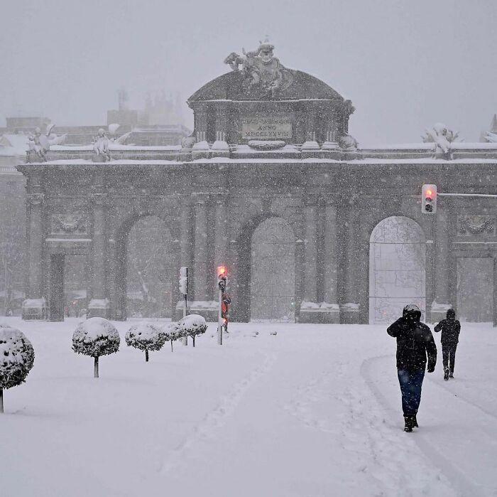 Snowfall In Spain