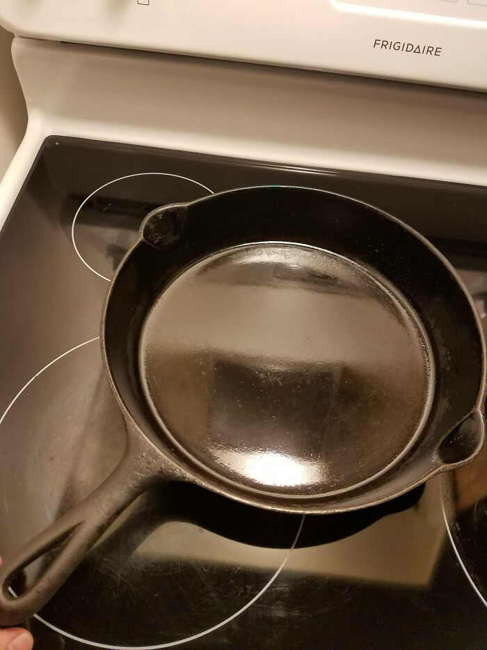 About 80 Years Old. Hand-Me-Down Cast Iron Skillet, Used Daily