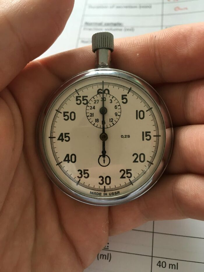 USSR-Made Stopwatch; Still In Daily Use At My Physiology Lab