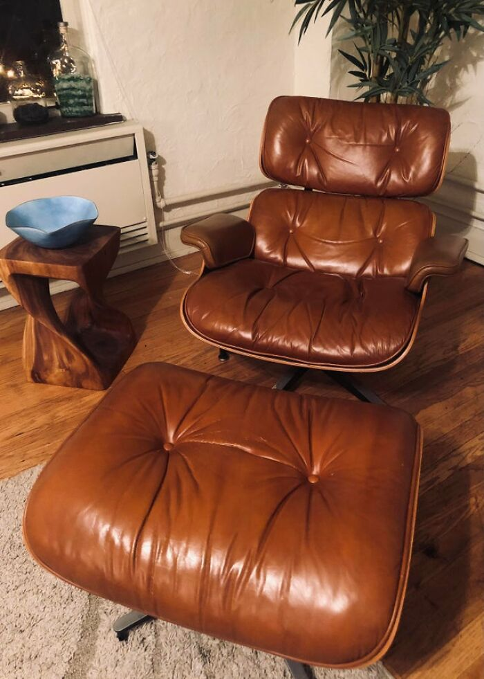 Herman Miller Eames Lounge Chair And Ottoman. Passed Down From My Late Grandfather. Circa 1960s