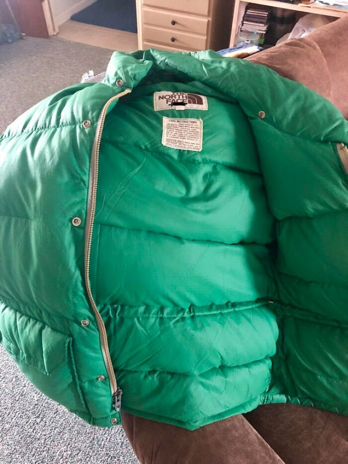 My Mom And Dad Got Matching North Face Down Jackets After Their Wedding 35 Years Ago. Still Being Worn Today. Now That My Dad Won't Be Wearing His Anymore, It's Up To Me To Make Sure It Continues To Get Used