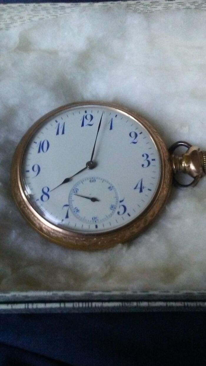 My Grandfather's Grandfather's Pocket Watch, Which Made It Through Ww1, And Still Works!