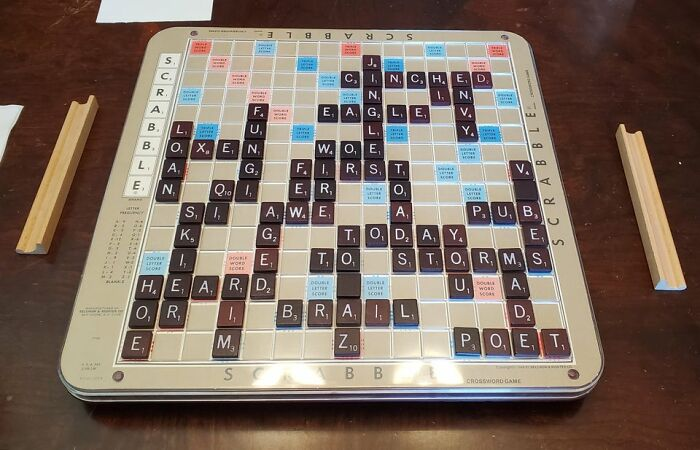 1976 Scrabble Board With Raised Grid-Lines And Rotating Base. Still Has All The Pieces!