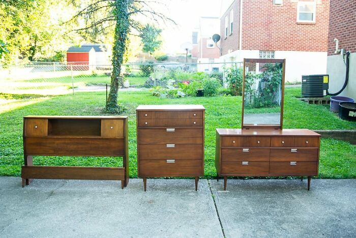 Picked Up This Basset Bedroom Set From The Original Owners. Around 60 Years Old. Ready For Another Lifetime Of Use