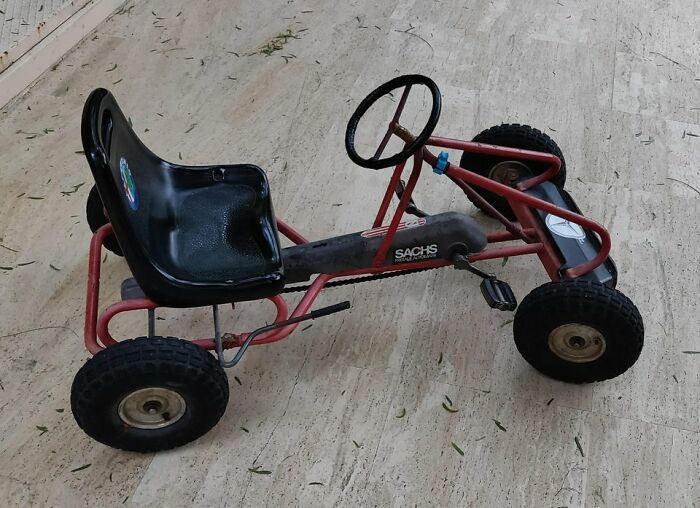 My Old Car Toy [sachs] Survived 7 Kids And Still Rolling After 35 Years...