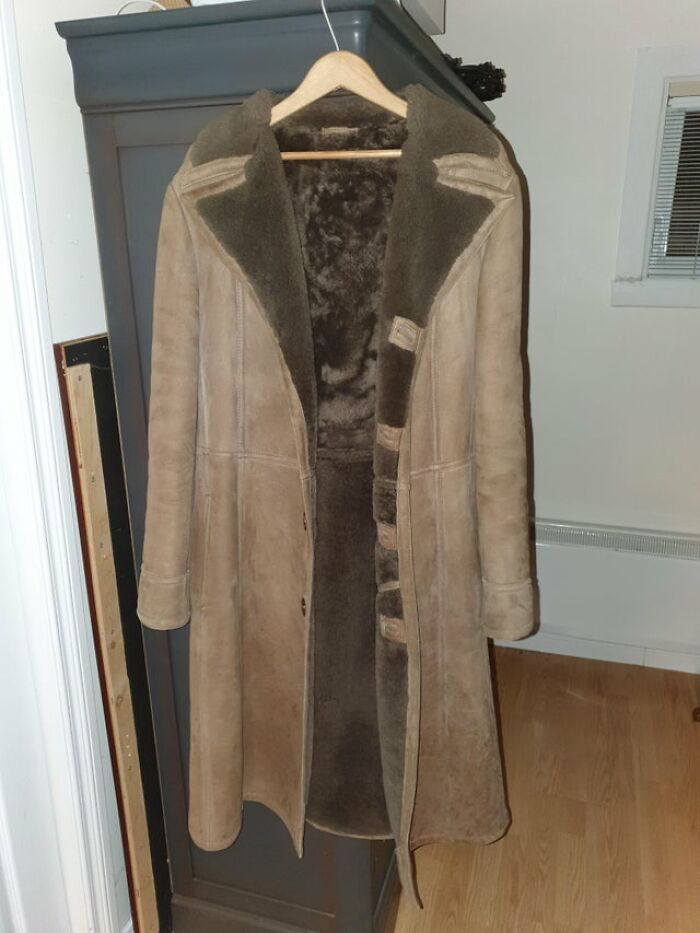 For Christmas, My Grandpa Gave Me The Sheepskin Coat He Wore In His 20s. He Is 70 Now! Still In Mint Condition :)