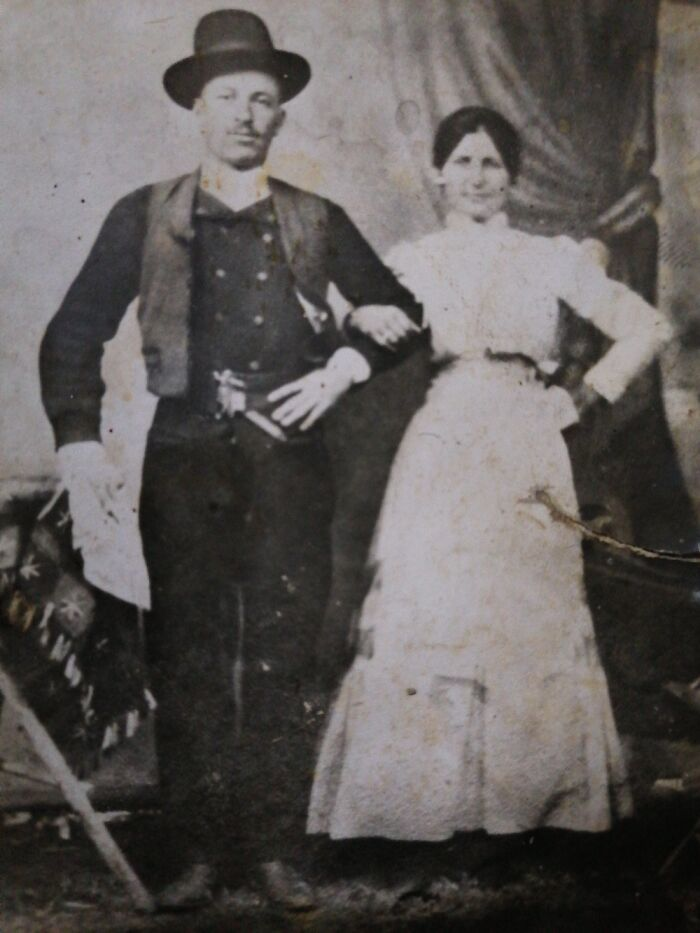 My Husband's Great-Grandparents. The Pic Is Not Perfect In Perfect Shape But They Look Awsome.