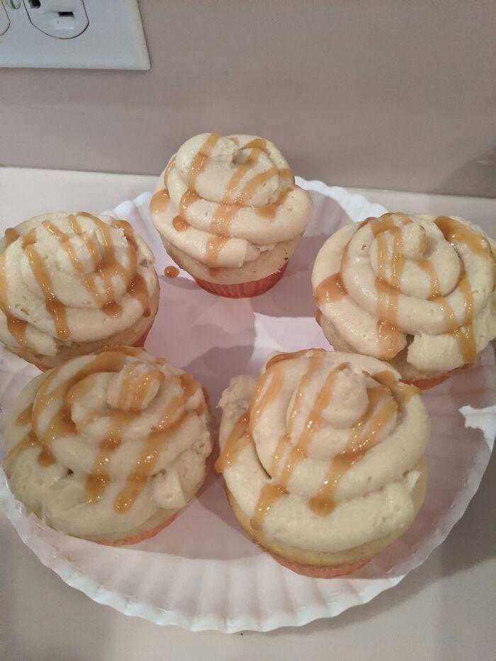 I Mafe Sea Salt Caramel Cupcakes From Scratch