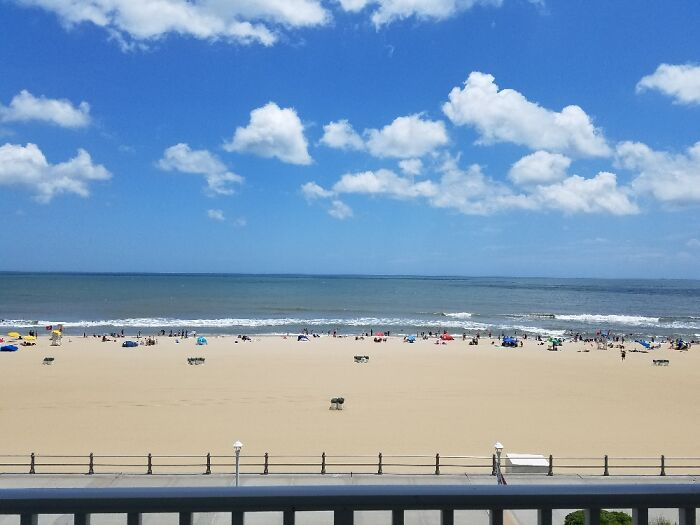 This Picture I Took From Our Hotel Balcony, The 1st Day @ Va Beach. Postcard Perfection W/A S7!