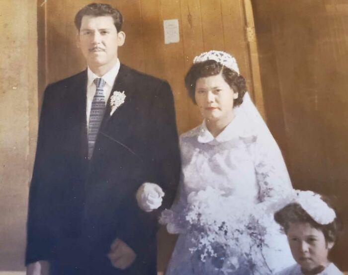 My Wonderful Grandpa And Beautiful Grandma Getting Married September 9,1957