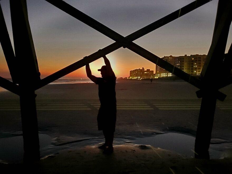 Sunset Under The Pier.