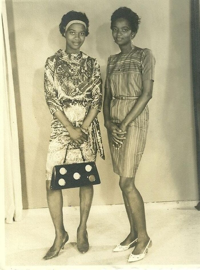 My Grandmother And Her Sister In Suriname. Fashionable As Always!