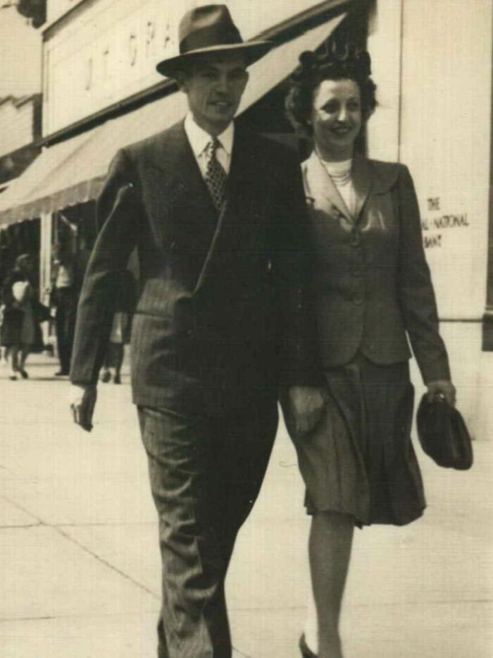 Paternal Grandparents, Dave And Jo Linton. Wedding Day, Chicago 1943
