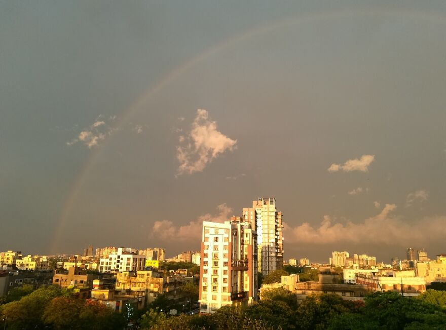The View From My Balcony After A Thunderstorm In April.