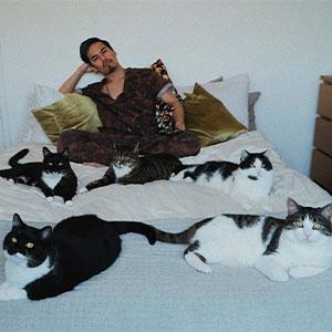 Este chico sin gatos encontró 5 de ellos en su cuarto, y ha publicado una actualización tras 2 años con su familia gatuna