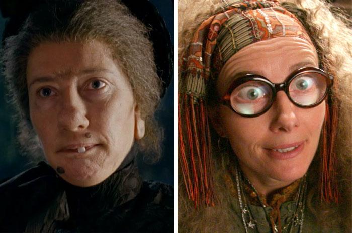 Nanny Mcphee From Nanny Mcphee And Prof. Sybil Trelawney From Harry Potter