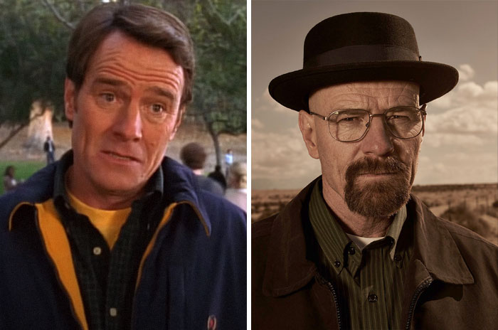 Hal From Malcolm In The Middle And Walter White From Breaking Bad