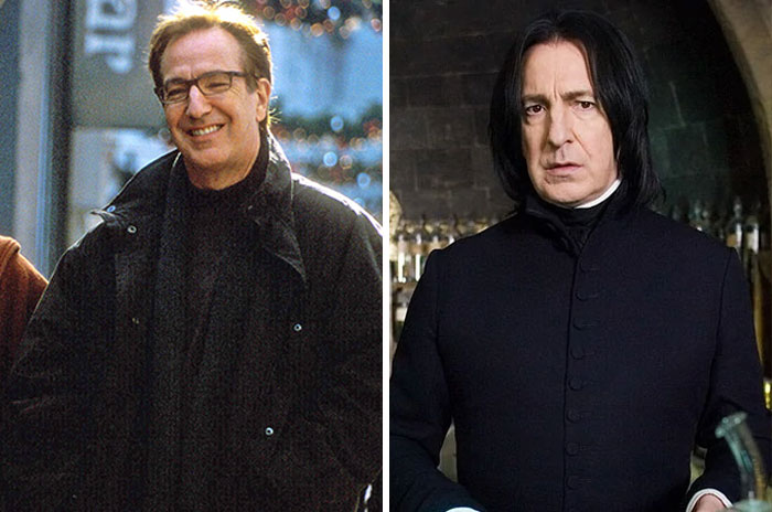 Harry From Love Actually And Prof. Severus Snape From Harry Potter