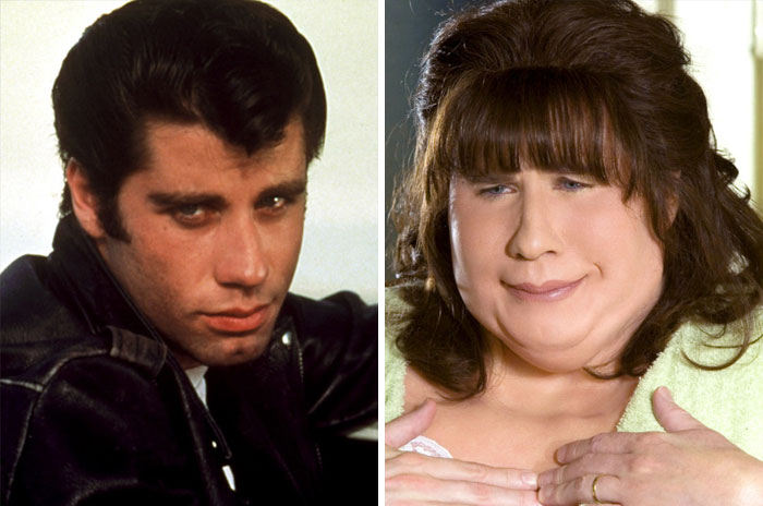 Danny Zuko From Grease And Edna Turnblad From Hairspray