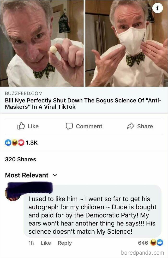 His Science Doesn't Match My Science!