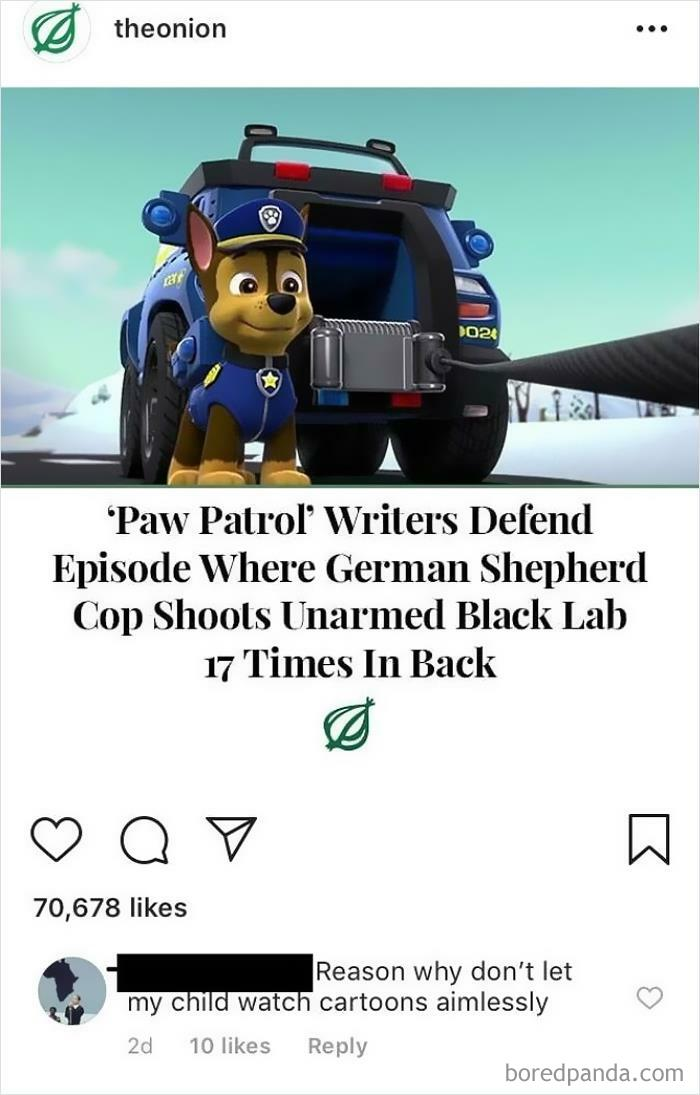 Paw Patrol Gets Too Real For This Atetheonioner