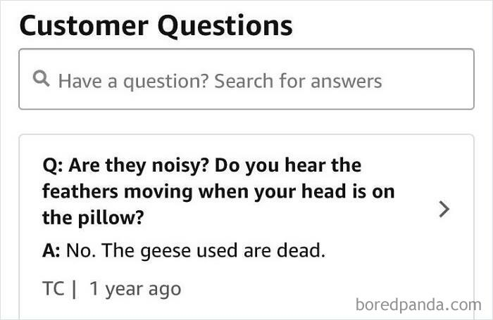 On A Review For Down Pillows... Thanks For The Clarification